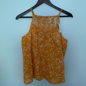 Maeve by Anthropologie orange and white tank top